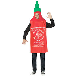 Men's Sriracha Bottle Hot Sauce Costume