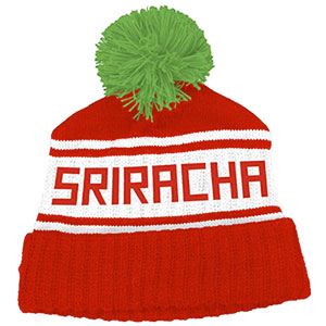 Sriracha Hot Sauce Pom Beanie