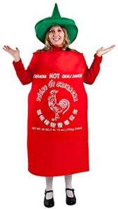 Women's Sriracha Bottle Costume