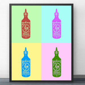 Andy Warhol Style Sriracha Print