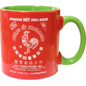 Sriracha Red and Green Logo Mug