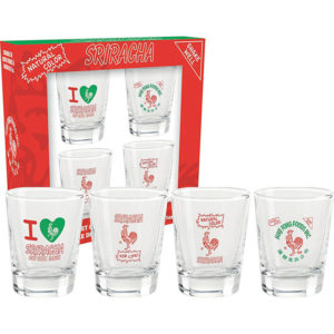Sriracha Shot Glass Set