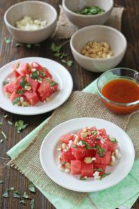 Watermelon Salad with Sriracha Vinaigrette Recipe