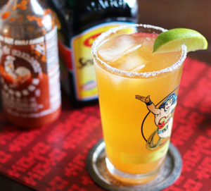 The Cocky Rooster Sriracha Beer Cocktail